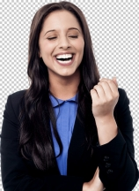 Young businesswoman looking happy