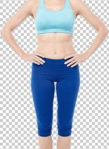 Young slim athletic smiling girl