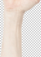 Male hand clenched fist