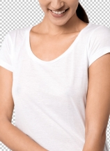 Cheerful young woman posing caually