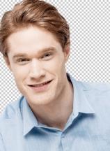 Studio shot of smart young guy