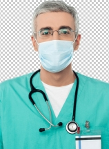 Male doctor with face mask