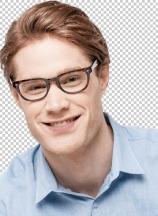 Stylish young man wearing a glasses