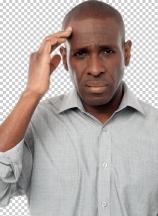 Middle aged man having headache