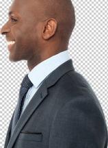Smiling handsome african businessman