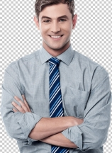 Smiling crossed arms corporate executive