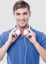 Handsome young man with earphones
