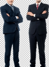 Confident young businessmen