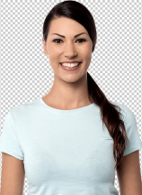 Attractive young smiling woman