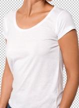 Woman posing sidewise