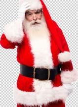 Santa claus suffering from headache