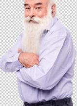 Senior man standing sideways to camera