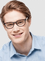 Stylish young man wearing a glasses