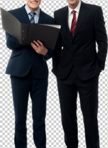 Confident business people posing