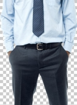 Full length portrait of businessman