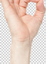 Closeup of mang hand gesturing