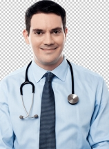 Smiling physician
