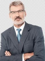 Senior businessman posing with confidence