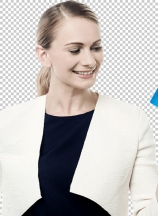 Happy woman holding credit card