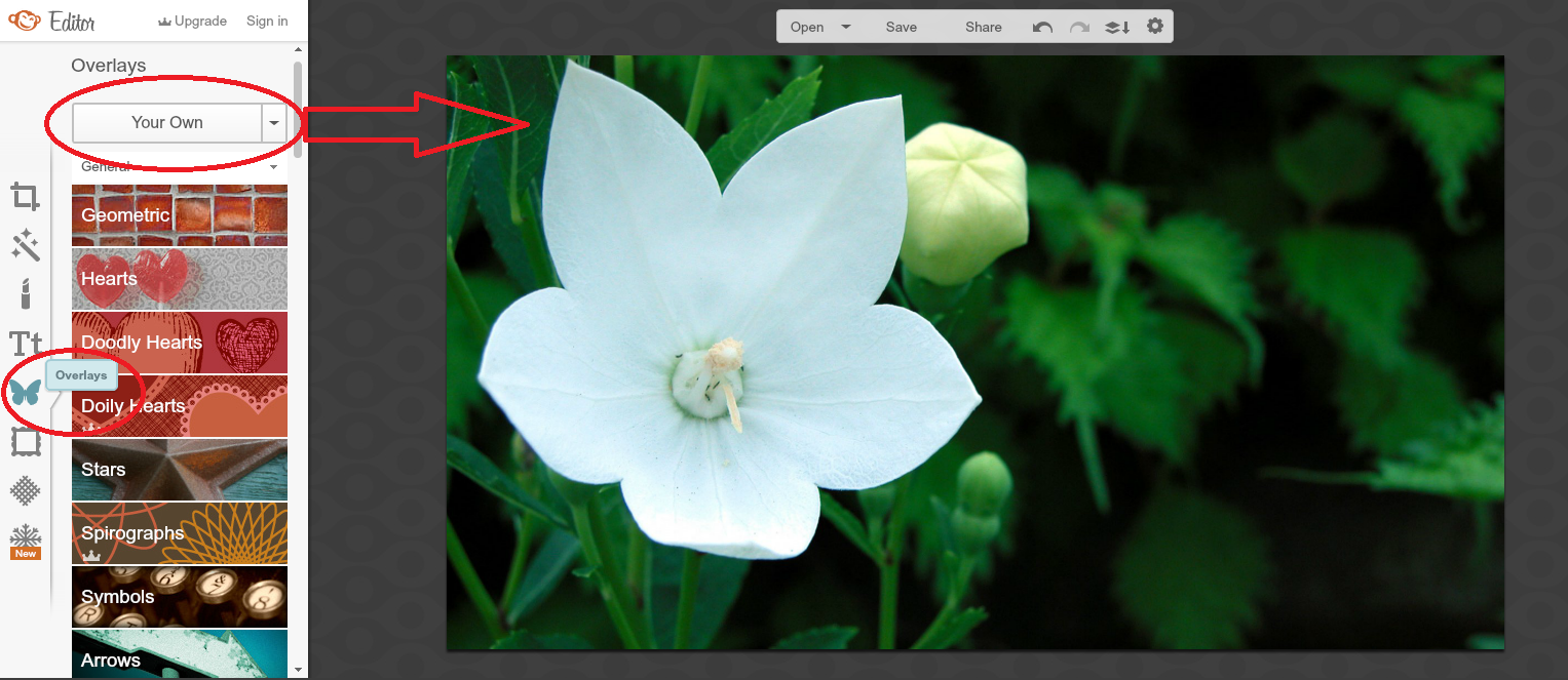 how to create an image with a transparent background